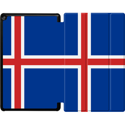 Amazon Fire HD 10 (2017) Tablet Smart Case - Iceland Flag von caseable Designs