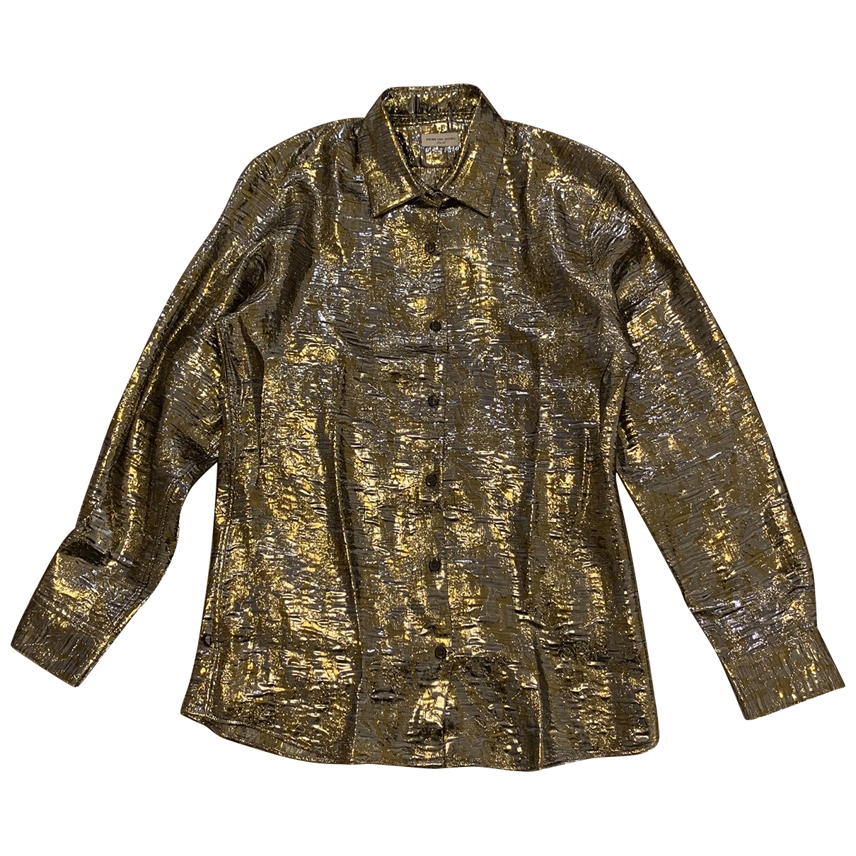 Dries Van Noten N Metallic Silk  top for Women 36 FR