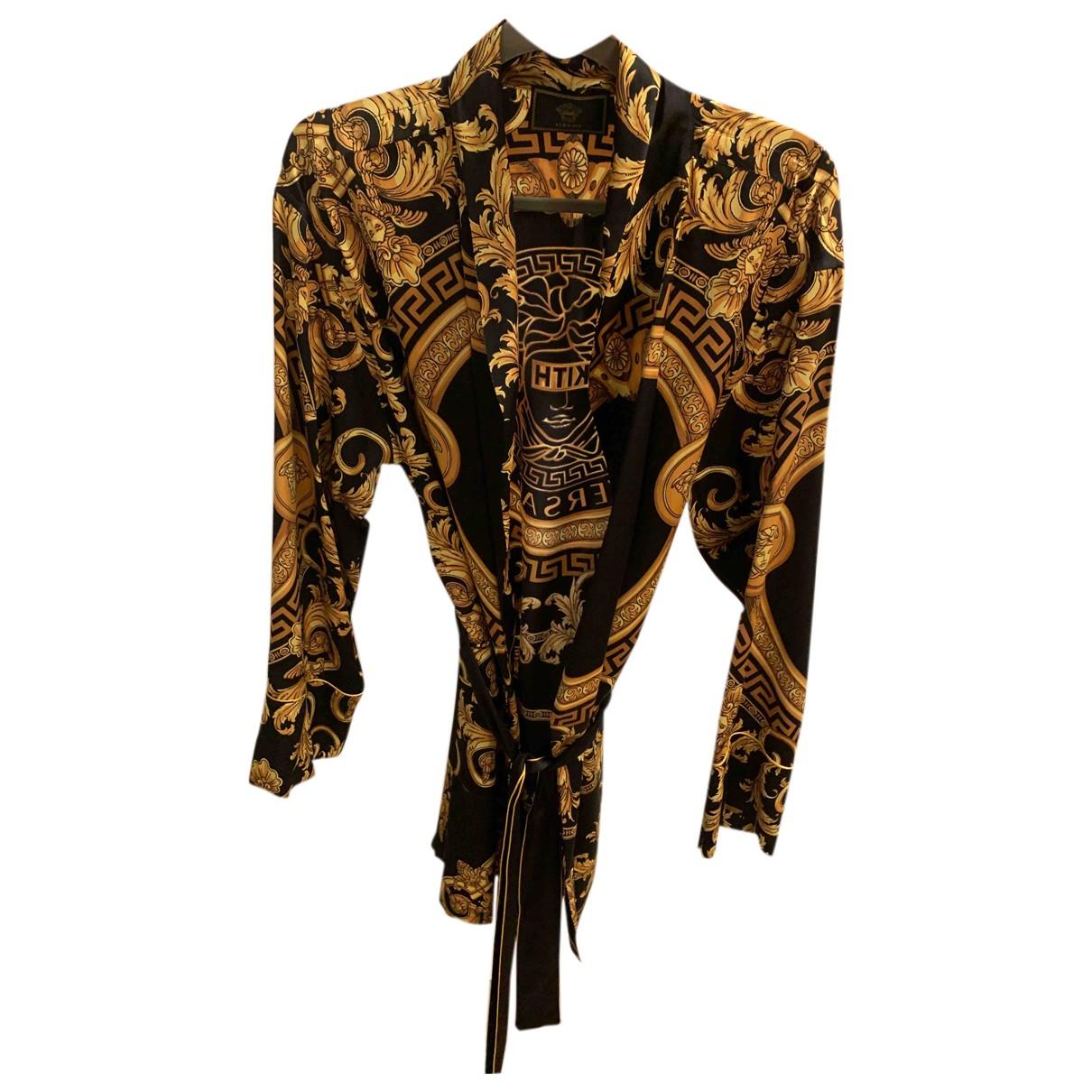 Mini vestido de Seda Versace X Kith
