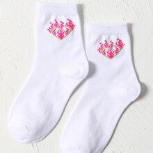 Socken mit Herzen Muster