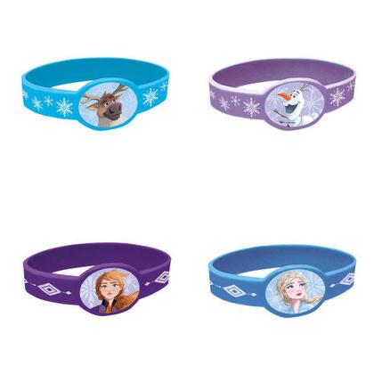 Disney Frozen 2 bracelets élastiques, 4ct Pour la fête d'anniversaire