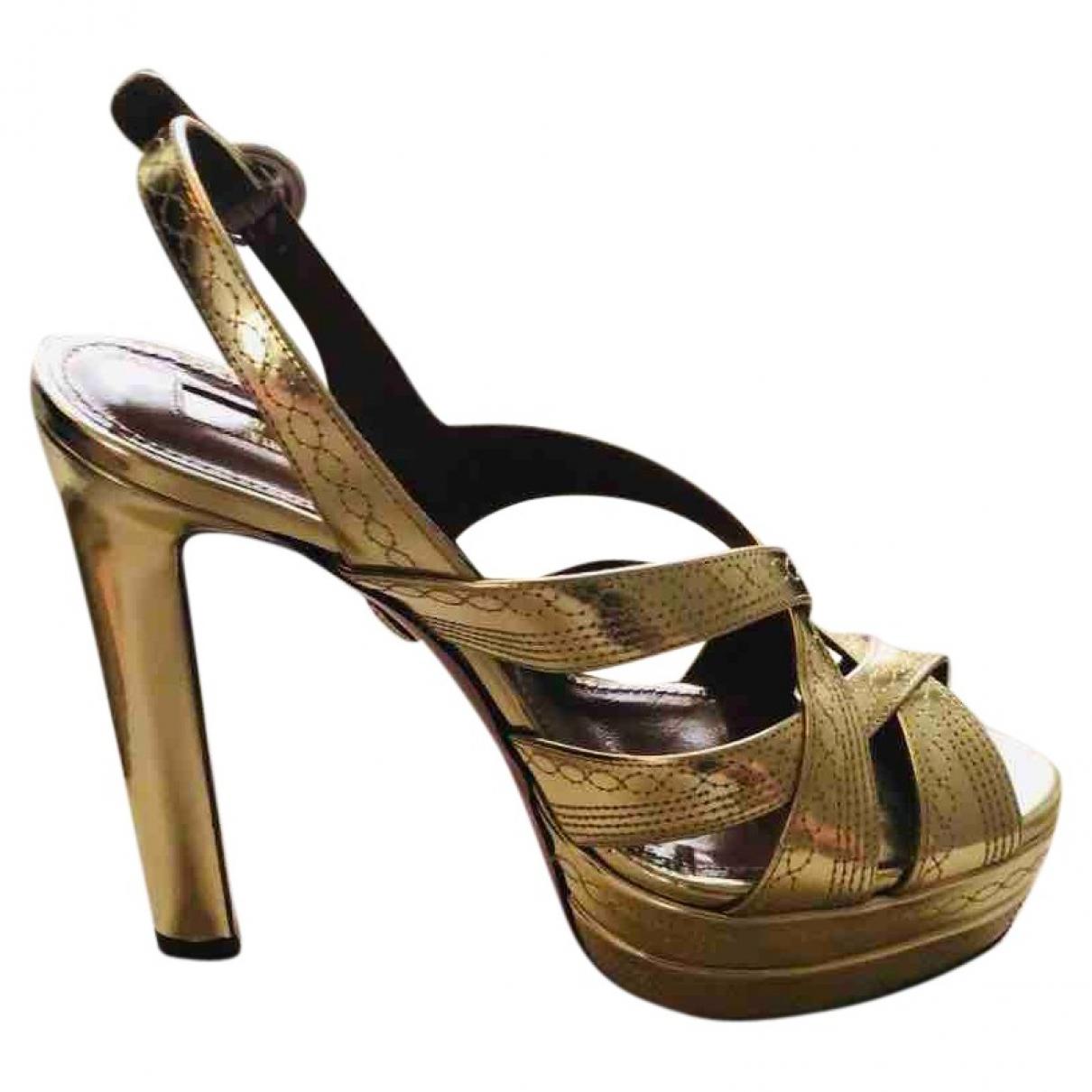 Aquazzura \N Sandalen in  Gold Leder