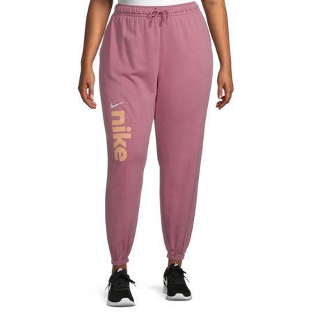 Nike Womens Mid Rise Plus Jogger Pant, 3x , Pink