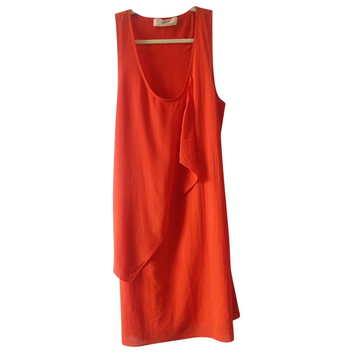 Vanessa Bruno Athe \N Kleid in  Orange Seide