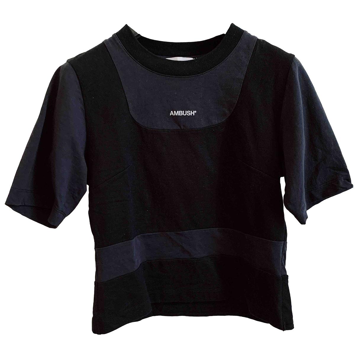 Ambush - Top   pour femme en coton - noir