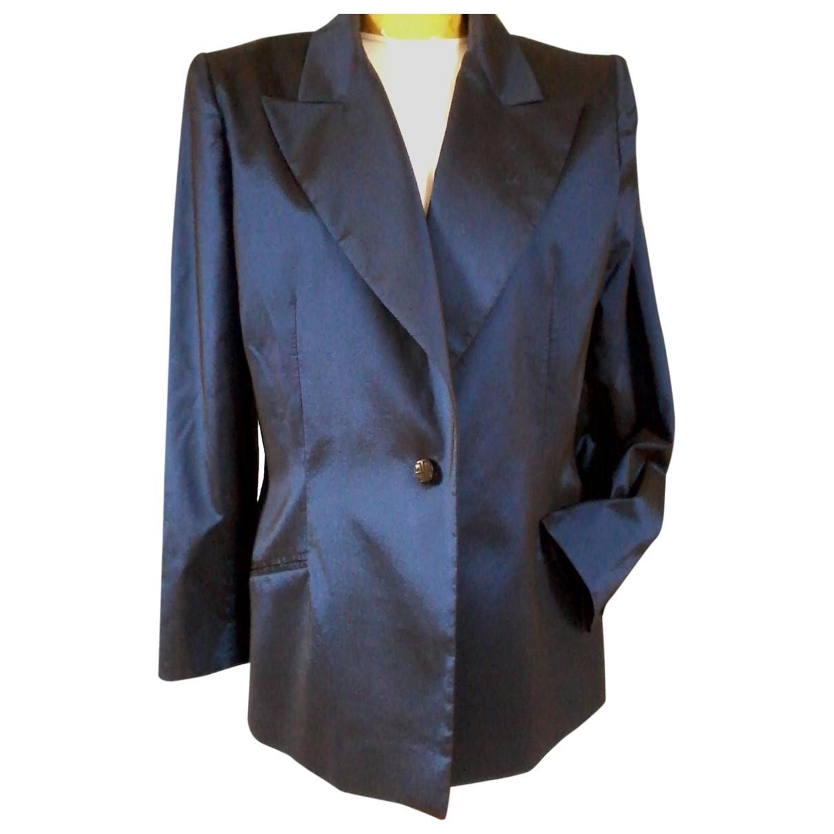 Givenchy \N Jacke in  Blau Synthetik