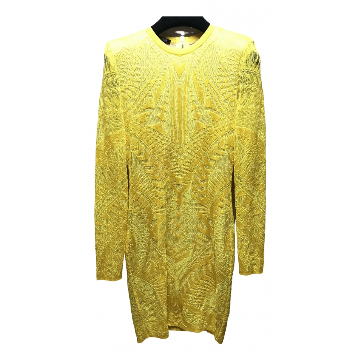 Balmain \N Yellow dress for Women 36 FR