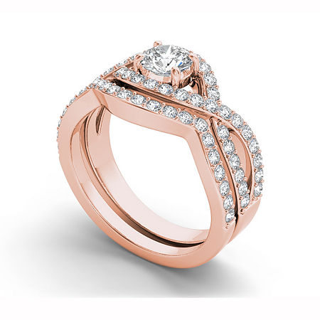 Womens 1 1/2 CT. T.W. White Diamond 14K Gold, 8 , No Color Family