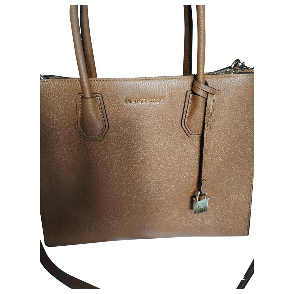 Michael Kors Mercer Camel Leather handbag for Women \N
