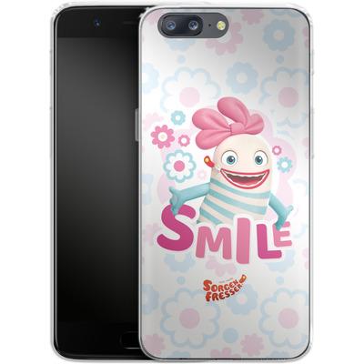 OnePlus 5 Silikon Handyhuelle - Sorgenfresser Smile von Sorgenfresser