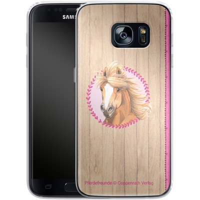 Samsung Galaxy S7 Silikon Handyhuelle - Pferdefreunde Herzen von Pferdefreunde