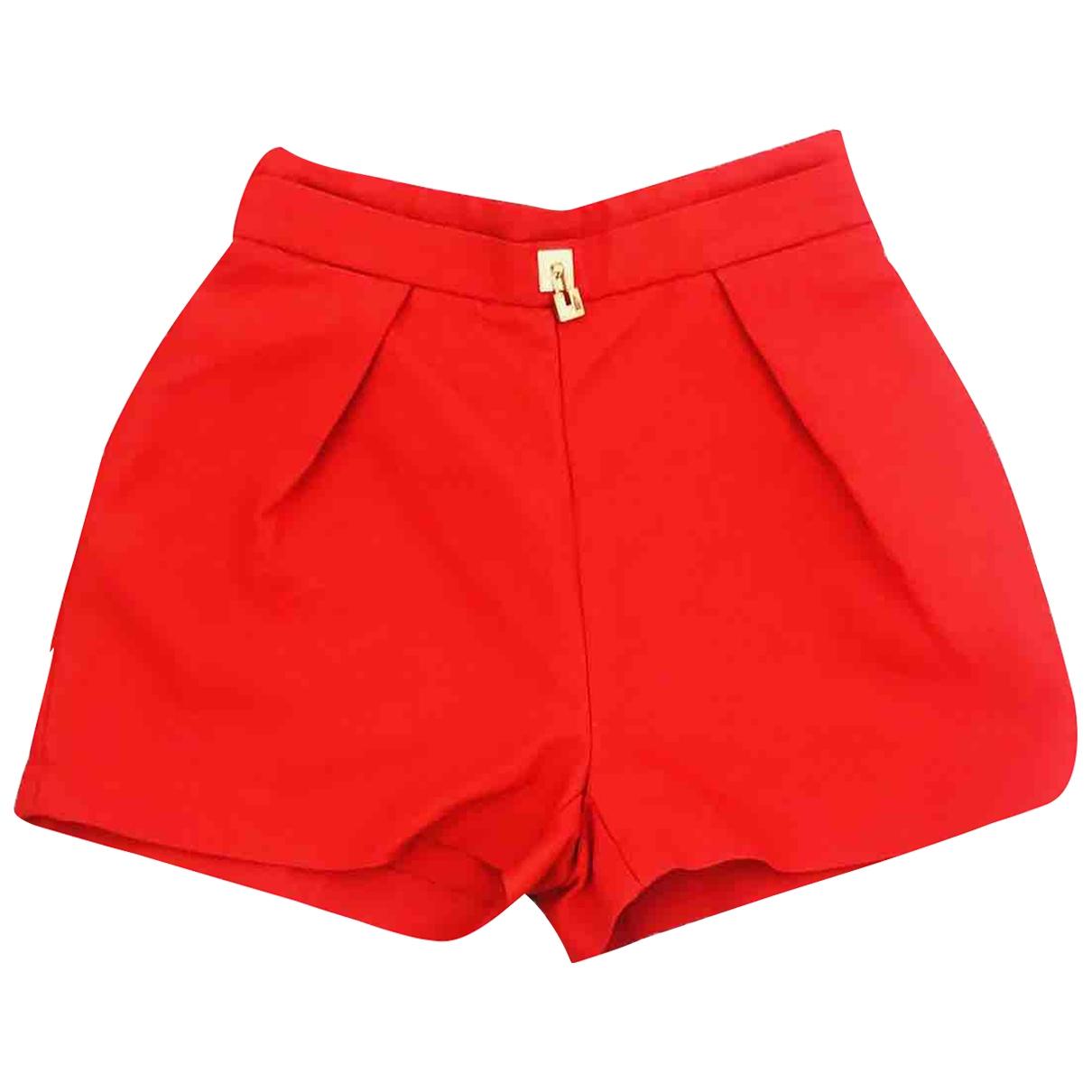 Elisabetta Franchi \N Red Shorts for Women 42 IT