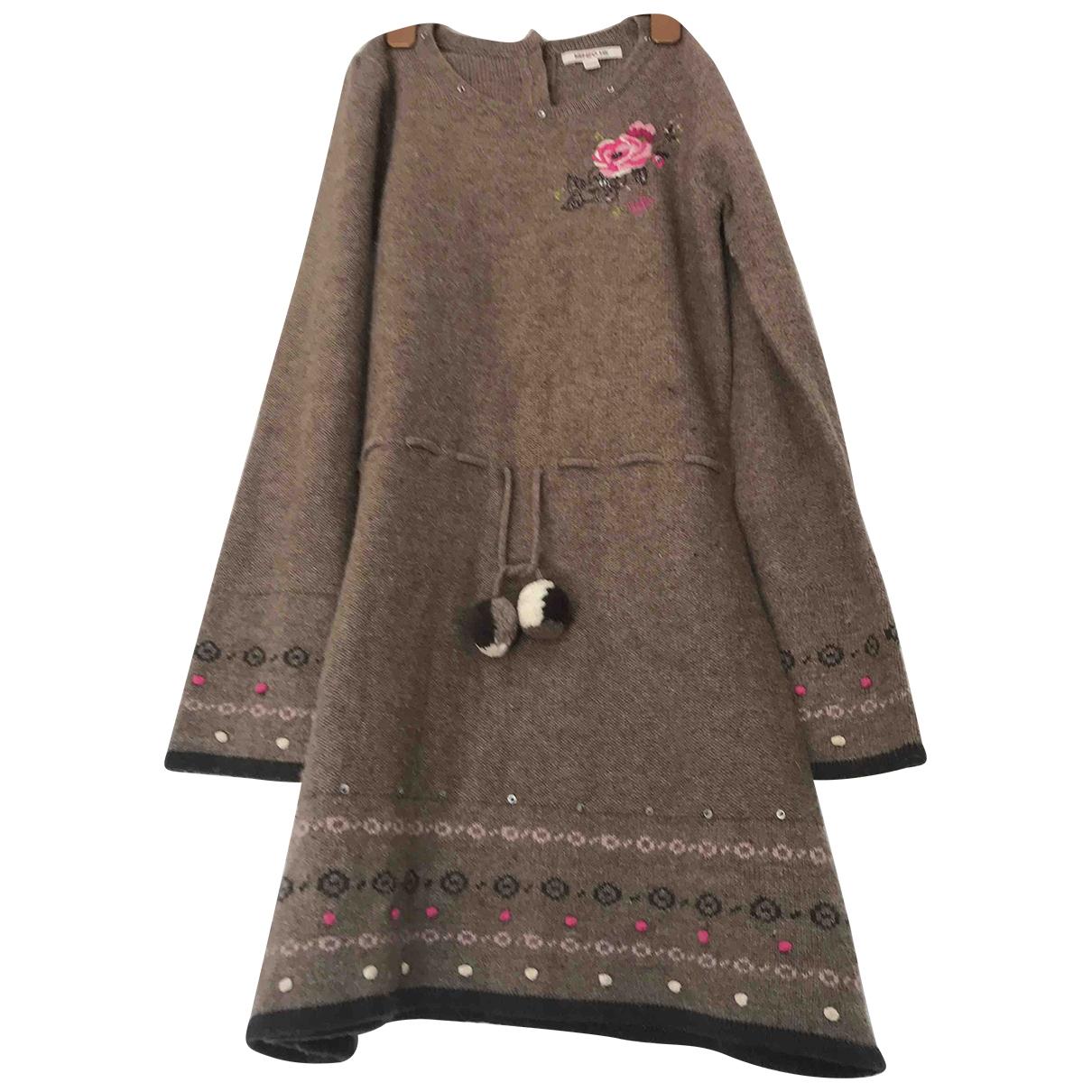 Kenzo \N Kleid in  Braun Wolle