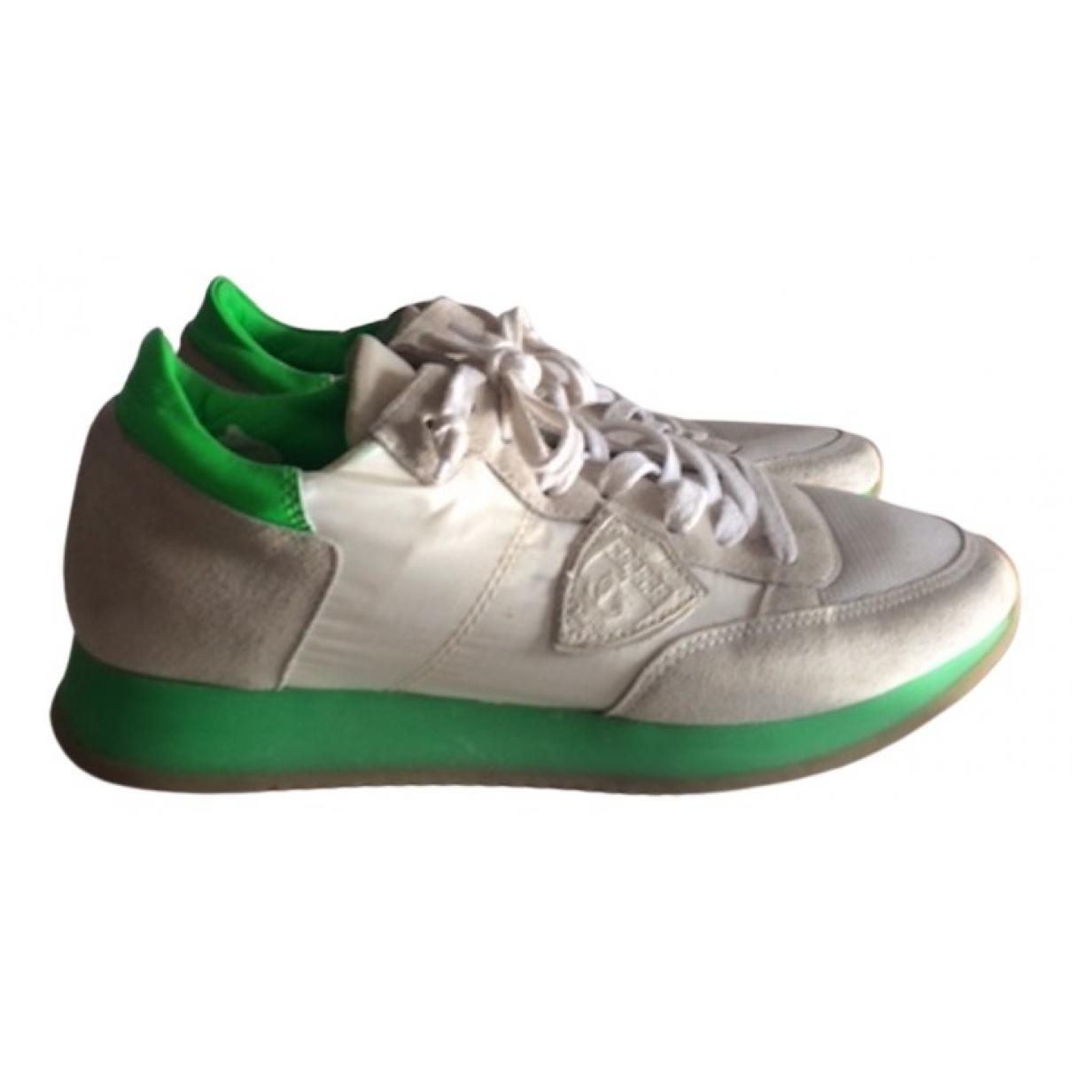 Philippe Model \N Sneakers in  Weiss Leinen