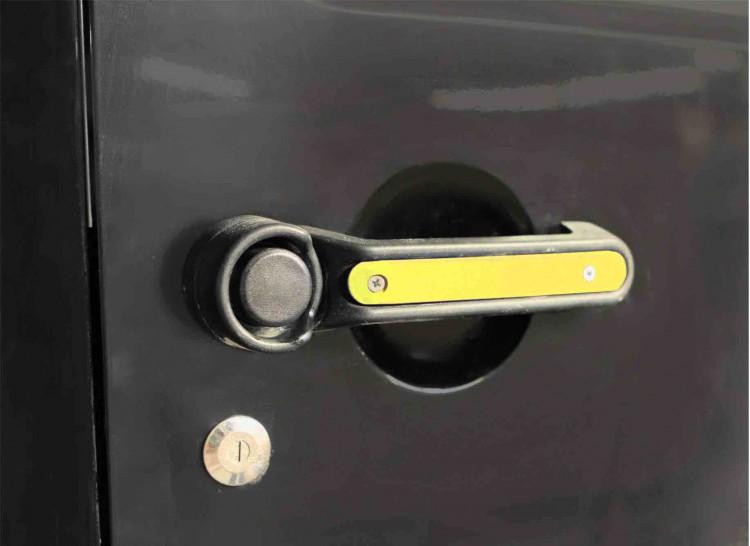 Steinjager J0046548 Door Handle Accent Kit Wrangler JK 2007-2018 2 Doors Plus Tailgate Neon Yellow