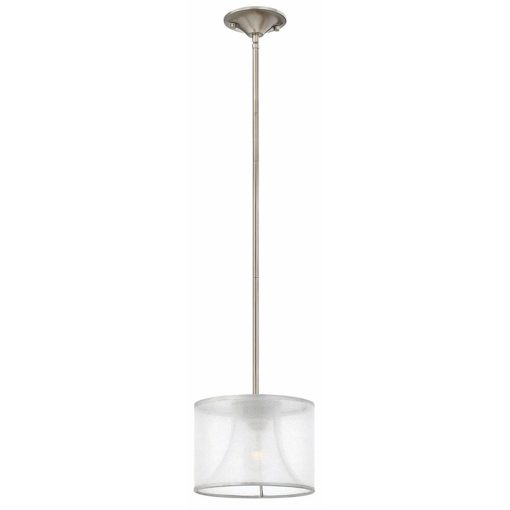 Fredrick Ramond Mime 1-Light Mini Pendant in Brushed Nickel