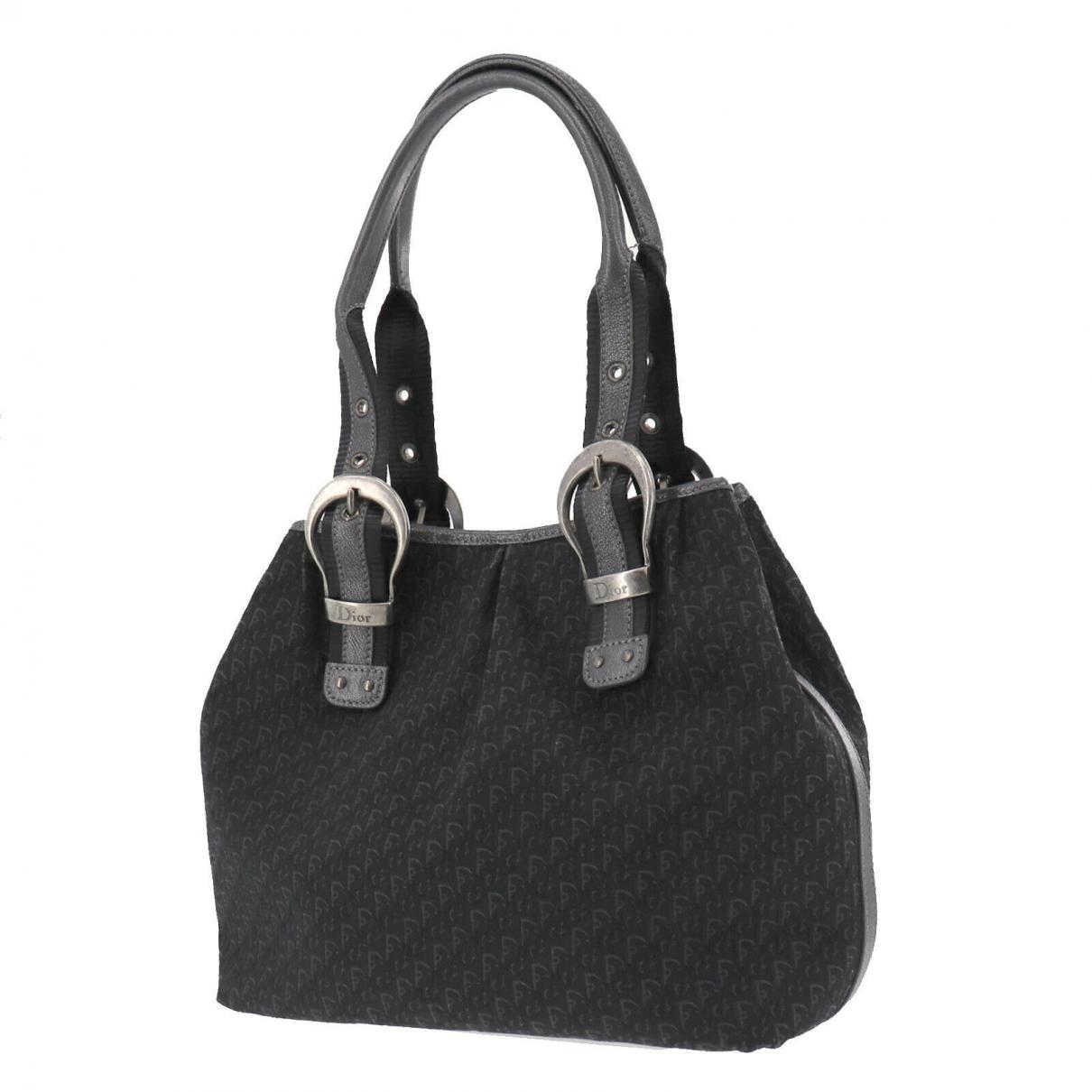 Christian Dior \N Handtasche in  Schwarz Leder