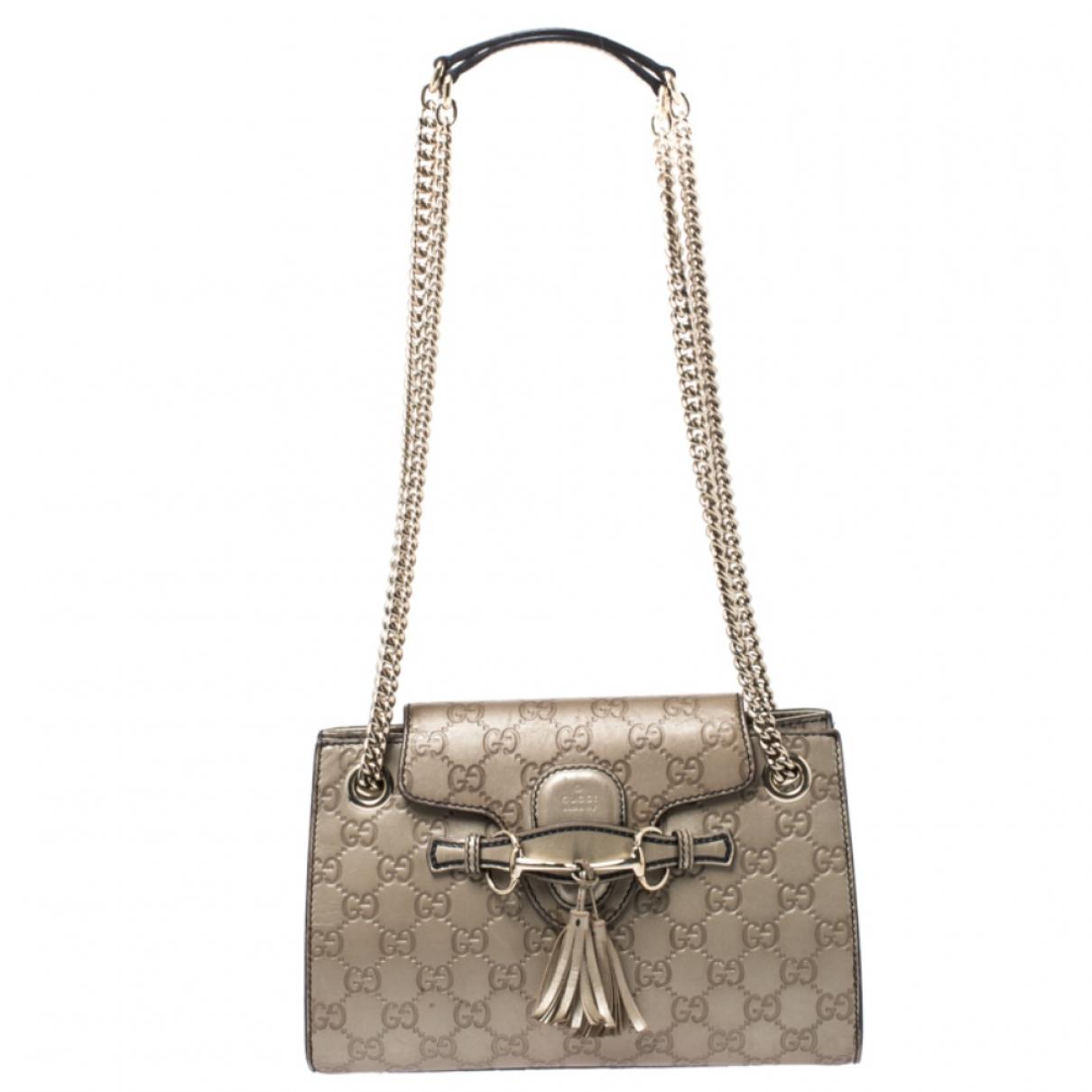 Gucci Emily Metallic Leather handbag for Women \N