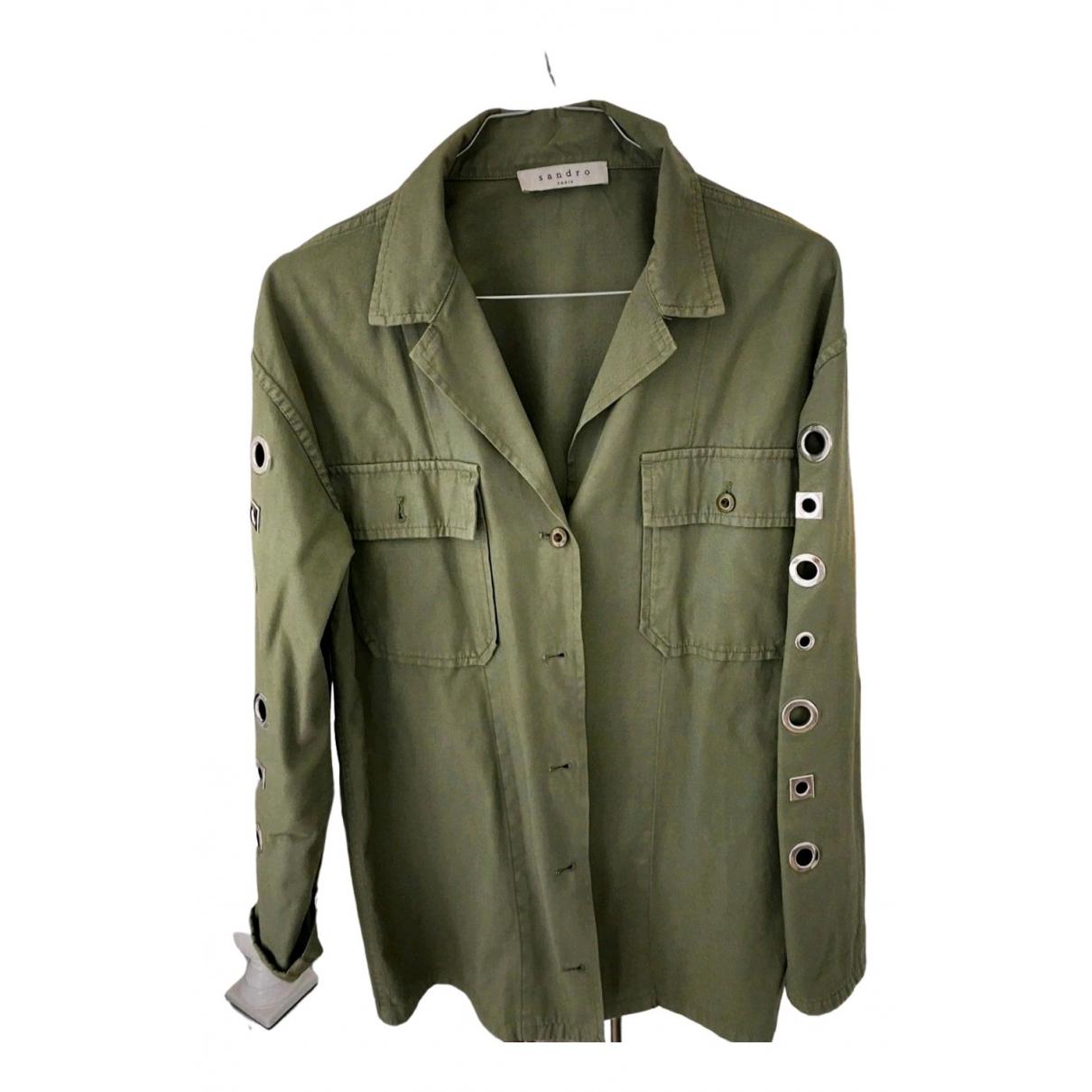 Sandro Spring Summer 2020 Khaki Denim - Jeans jacket for Women 36 FR