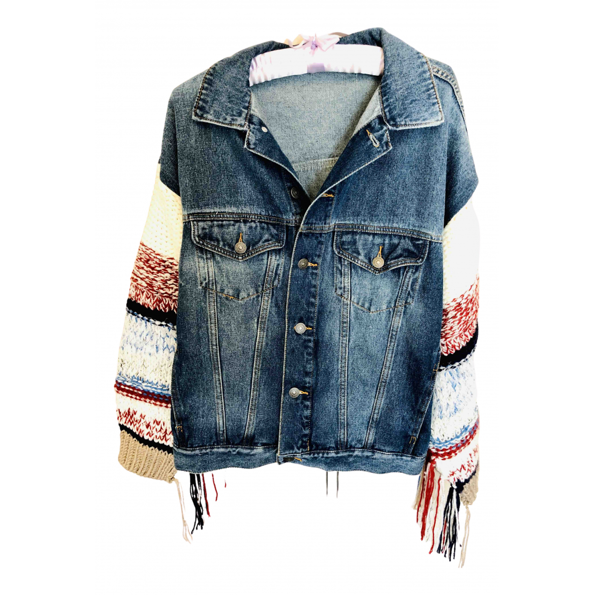 Non Signé / Unsigned Oversize Blue Denim - Jeans jacket for Women 36 FR