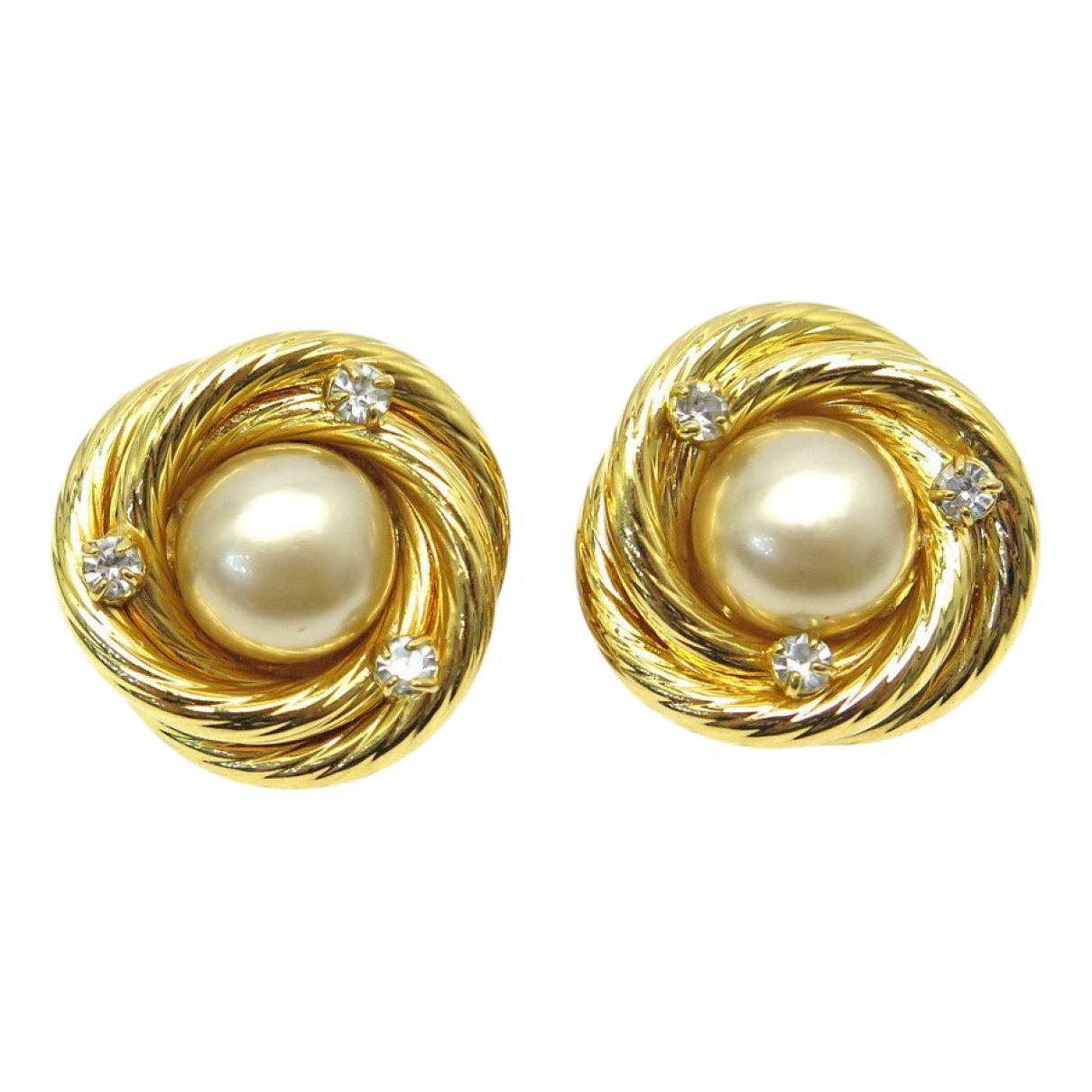 Chanel - Boucles doreilles   pour femme en metal - dore