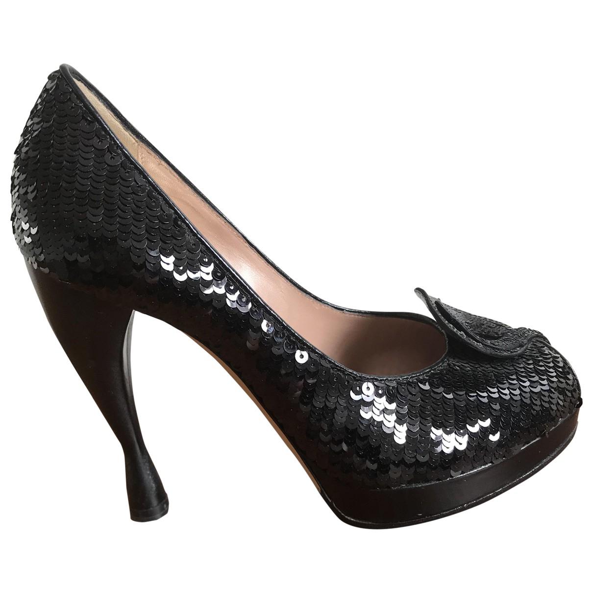 Emporio Armani - Escarpins   pour femme en a paillettes - noir