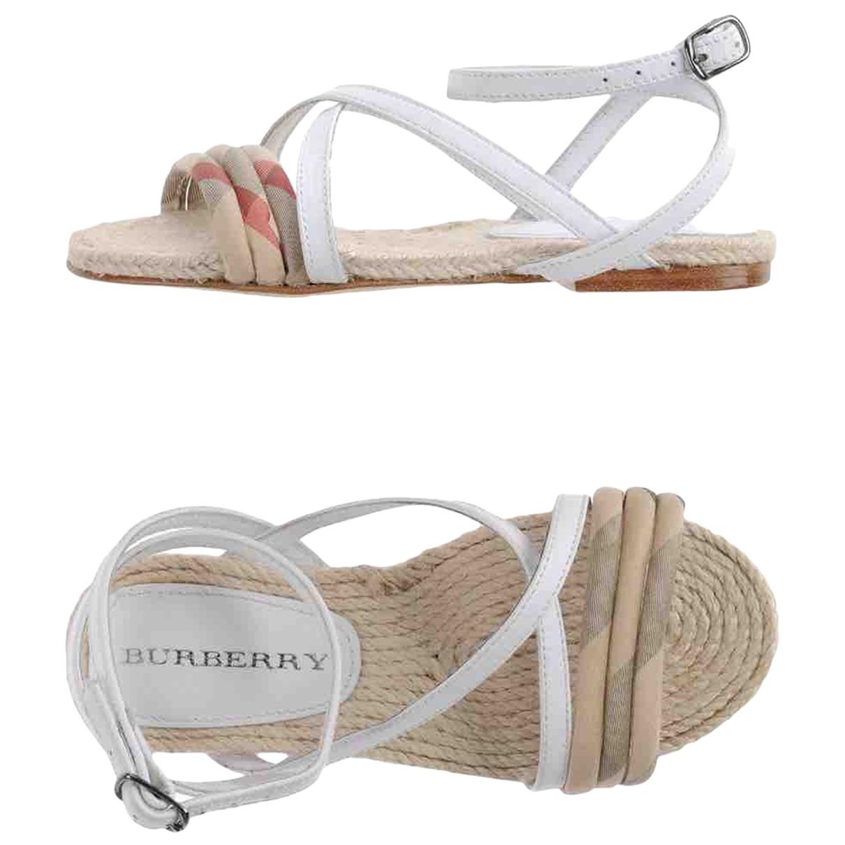 Burberry - Sandales   pour enfant en toile - blanc