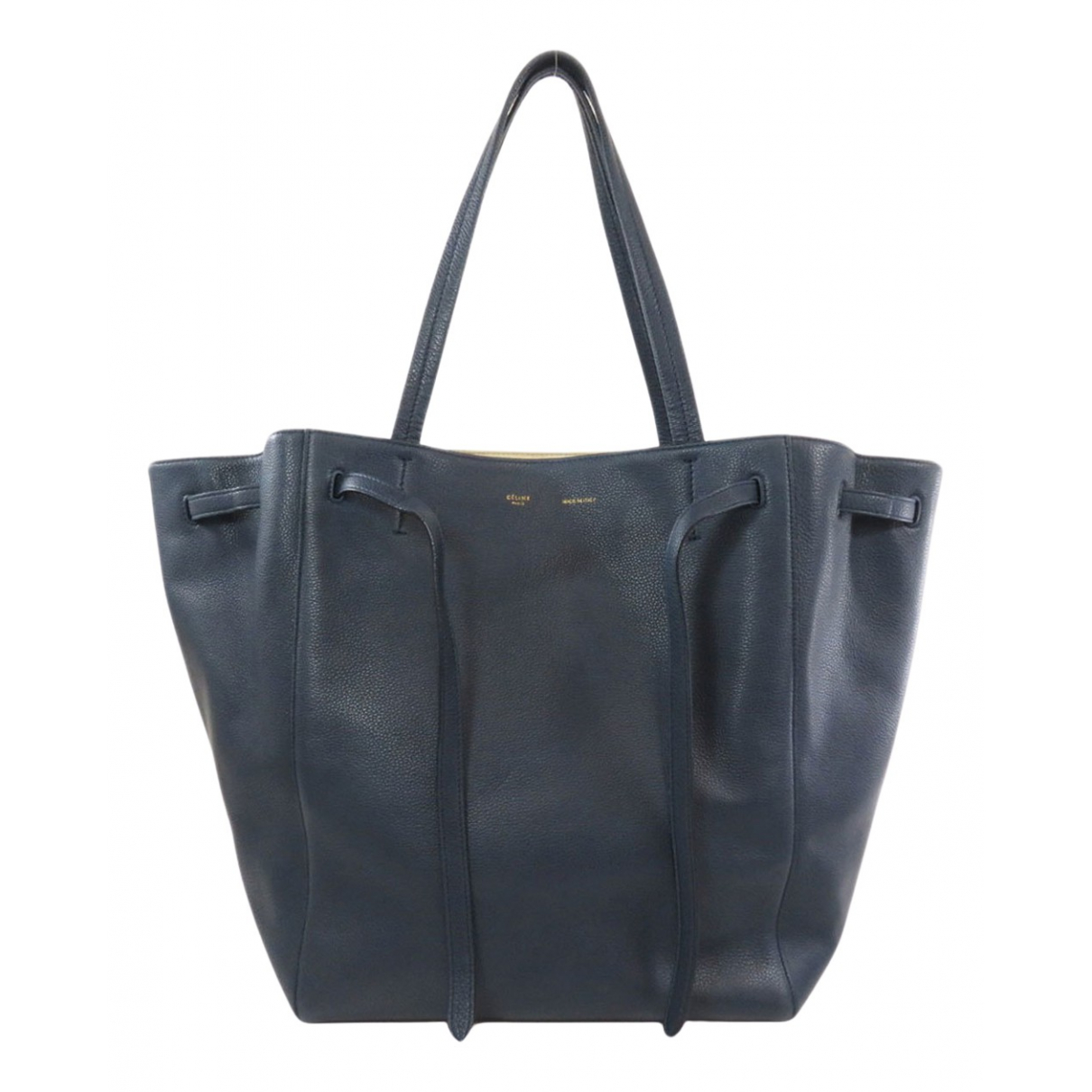Celine Cabas Phantom Blue Leather handbag for Women \N