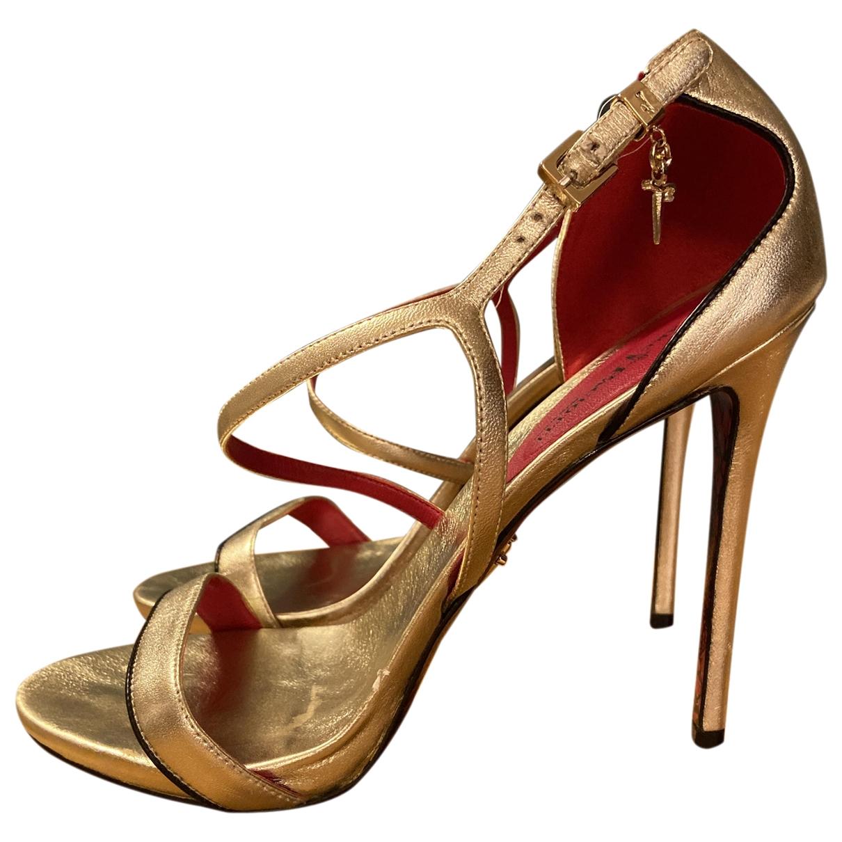 Cesare Paciotti \N Pumps in  Gold Leder