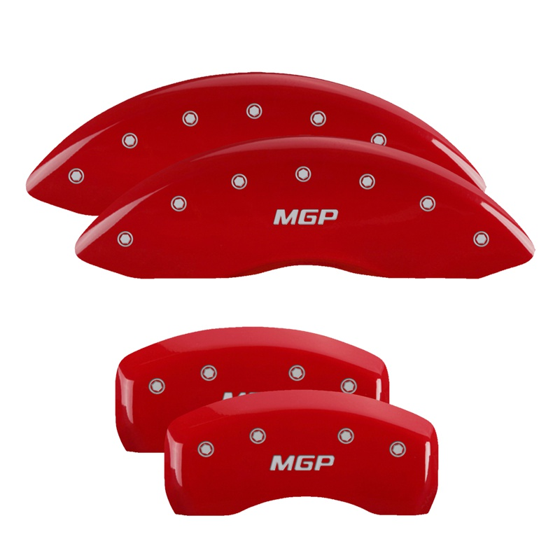MGP Caliper Covers 10241SMGPRD Set of 4: Red finish, Silver MGP / MGP Ford Edge 2015-2018