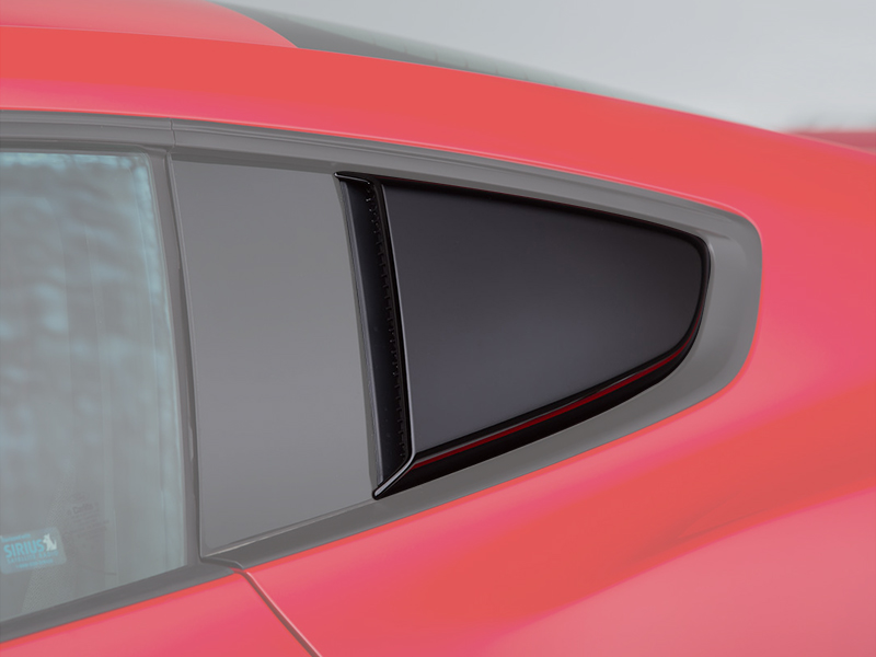 Roush 421881 Performance 2015-18 Mustang ROUSH Quarter Window Scoops (Painted Black) Ford Mustang 2015-2017
