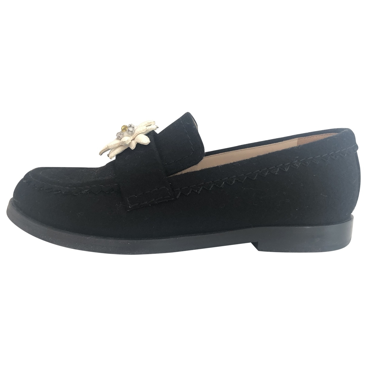 Chanel \N Black Suede Flats for Women 3.5 UK
