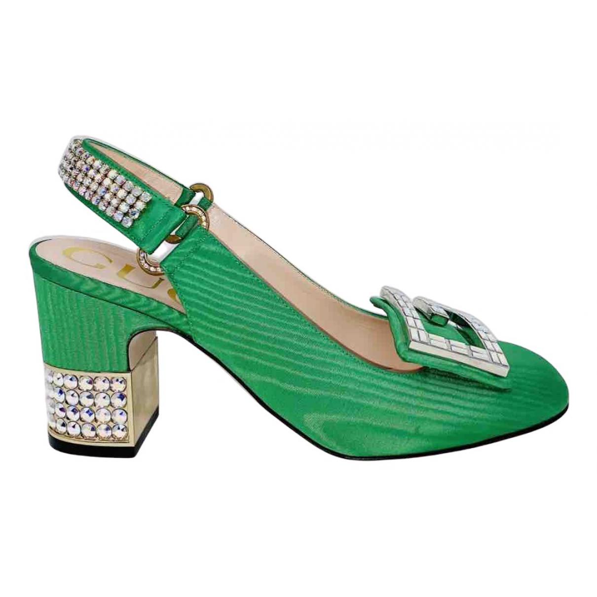 Gucci - Escarpins   pour femme en toile - vert