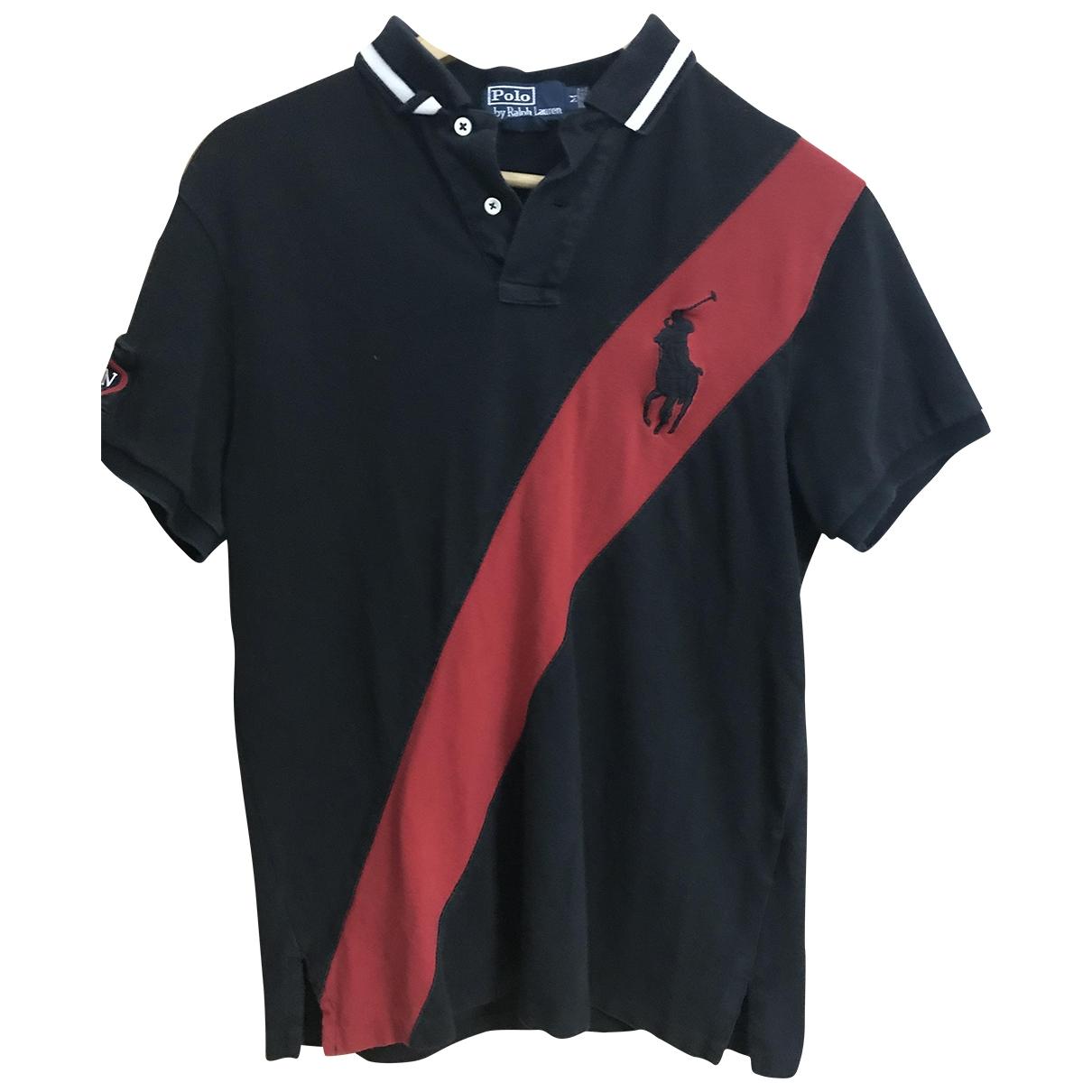 Polo Ralph Lauren Polo ajusté manches courtes Black Cotton Polo shirts for Men M International
