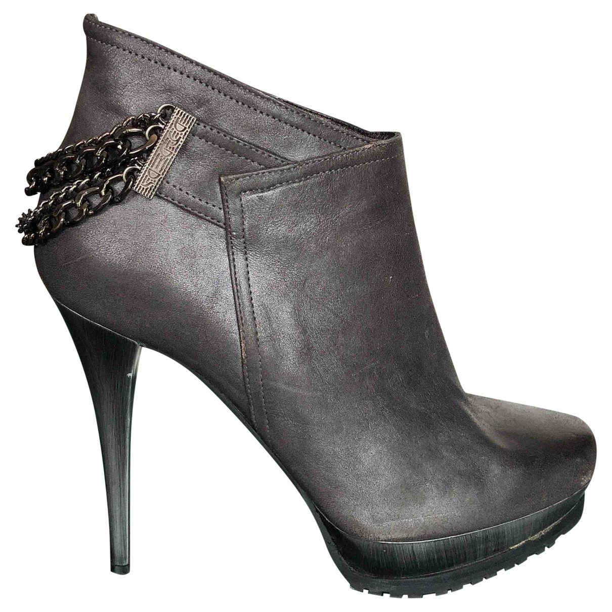 Byblos \N Metallic Leather Ankle boots for Women 39 EU