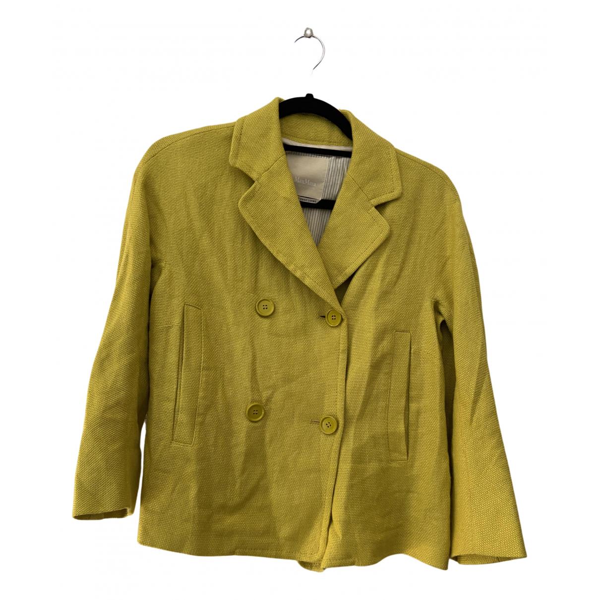 Max Mara s - Veste Max Mara Atelier pour femme en lin - jaune