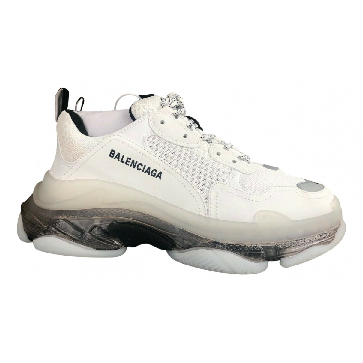 Balenciaga Triple S Sneakers in  Weiss Polyester