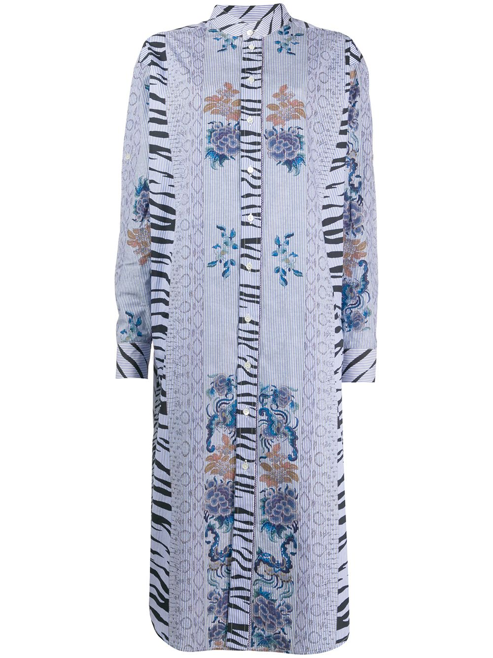 Cotton Jacquard-effect Shirt Dress