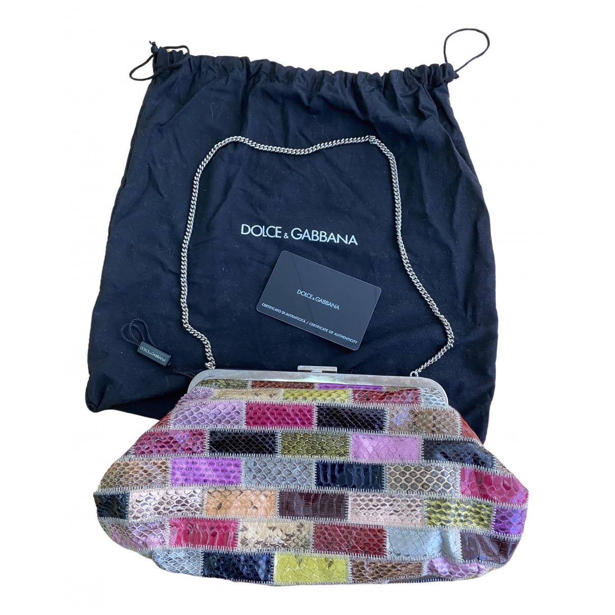 Dolce & Gabbana \N Multicolour Python handbag for Women \N