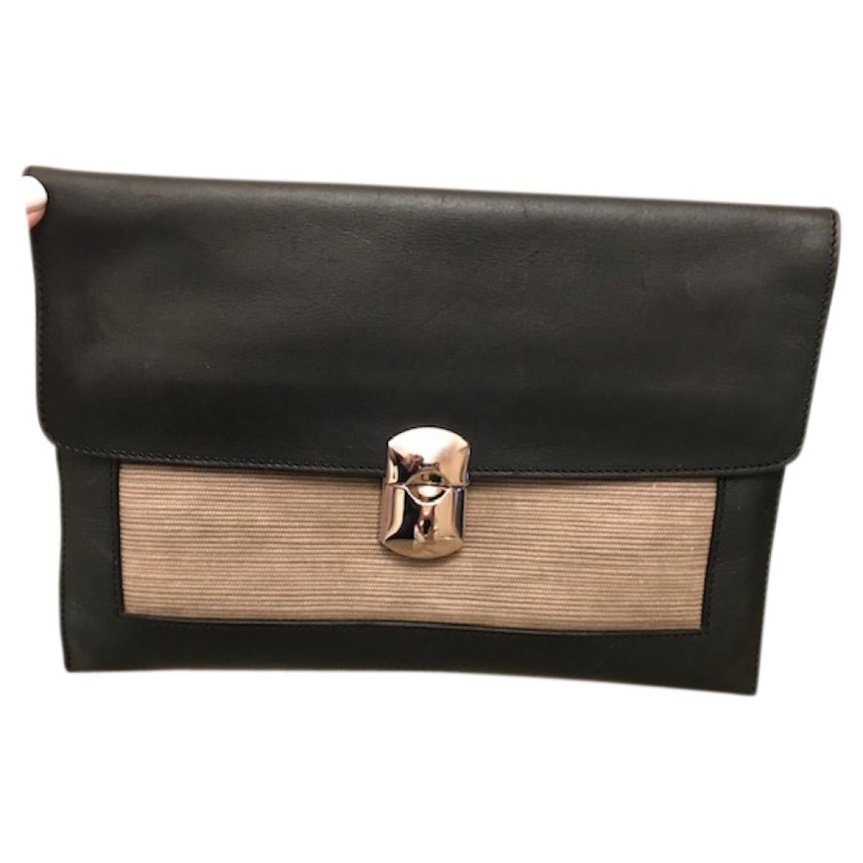 Balenciaga Le Dix Black Leather Clutch bag for Women \N