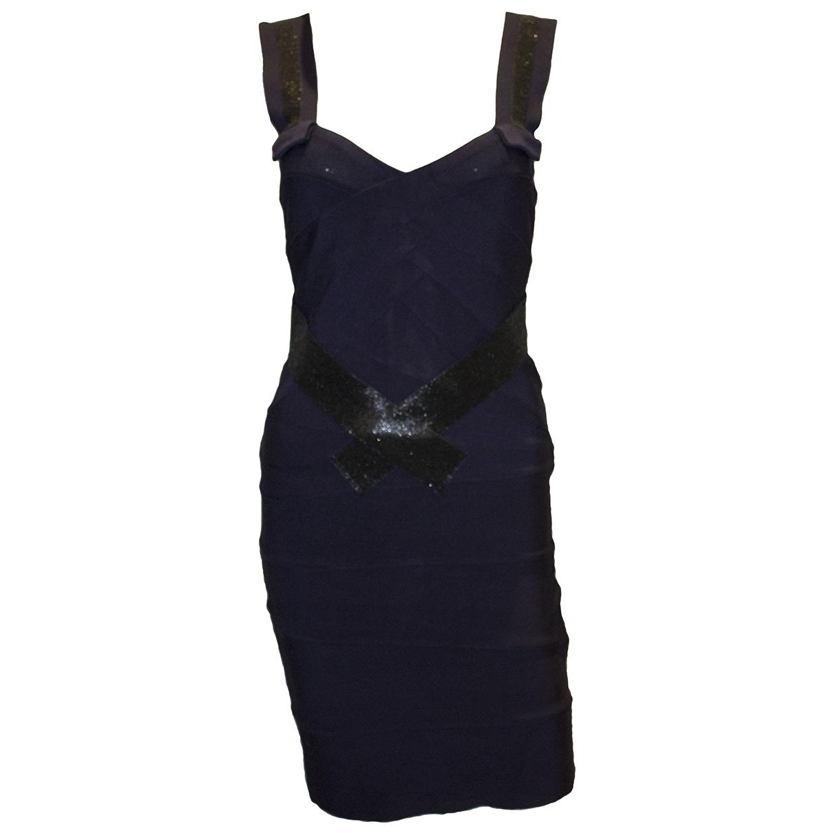 Herve Leger - Robe   pour femme - marine