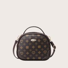 Graphic Pattern Satchel Bag