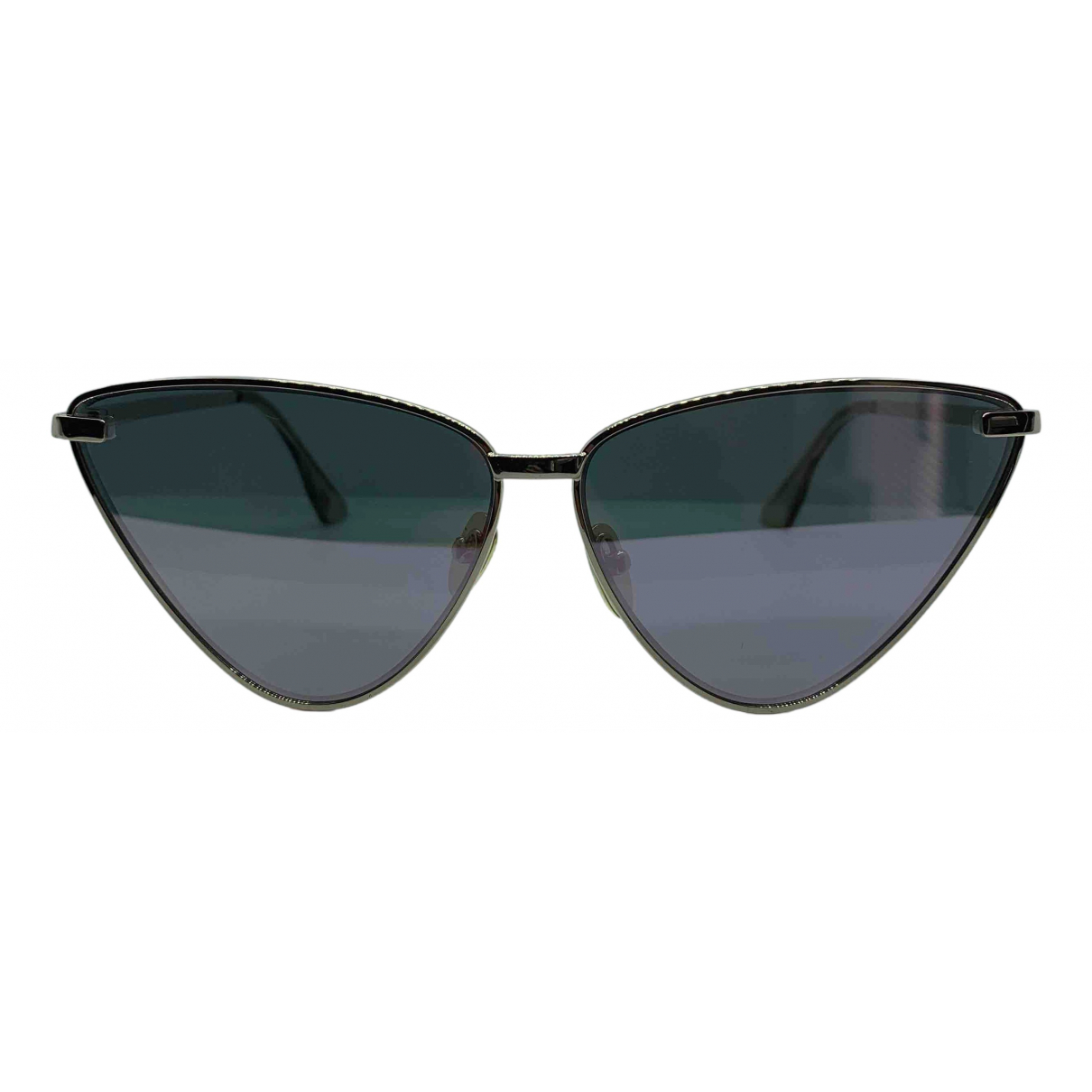 Le Specs \N Silver Metal Sunglasses for Women \N