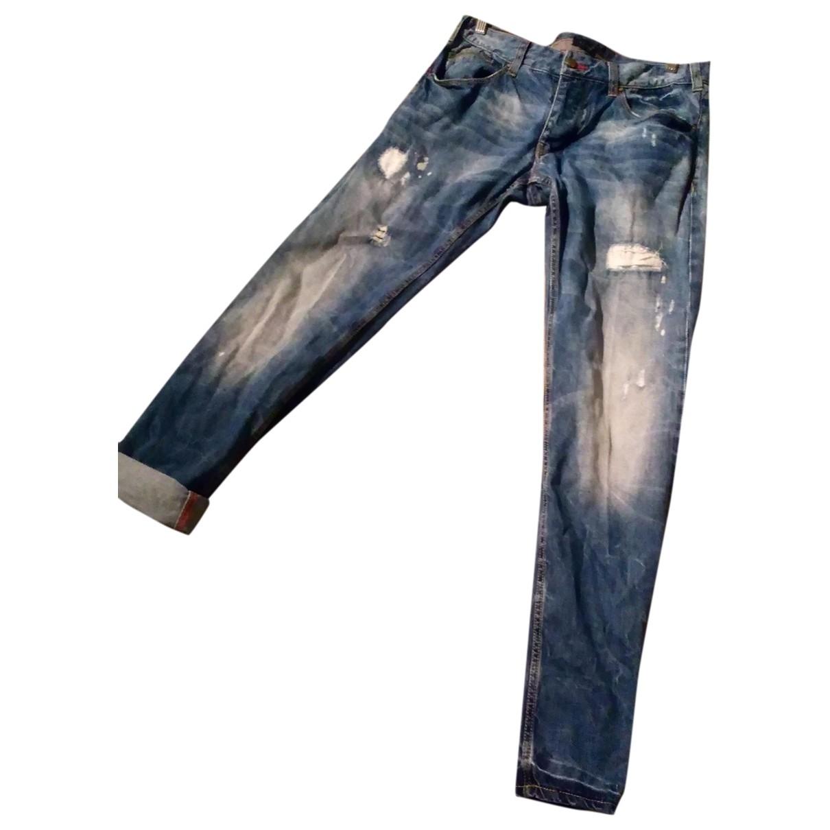 Armani Jeans \N Blue Cotton Jeans for Men 42 FR