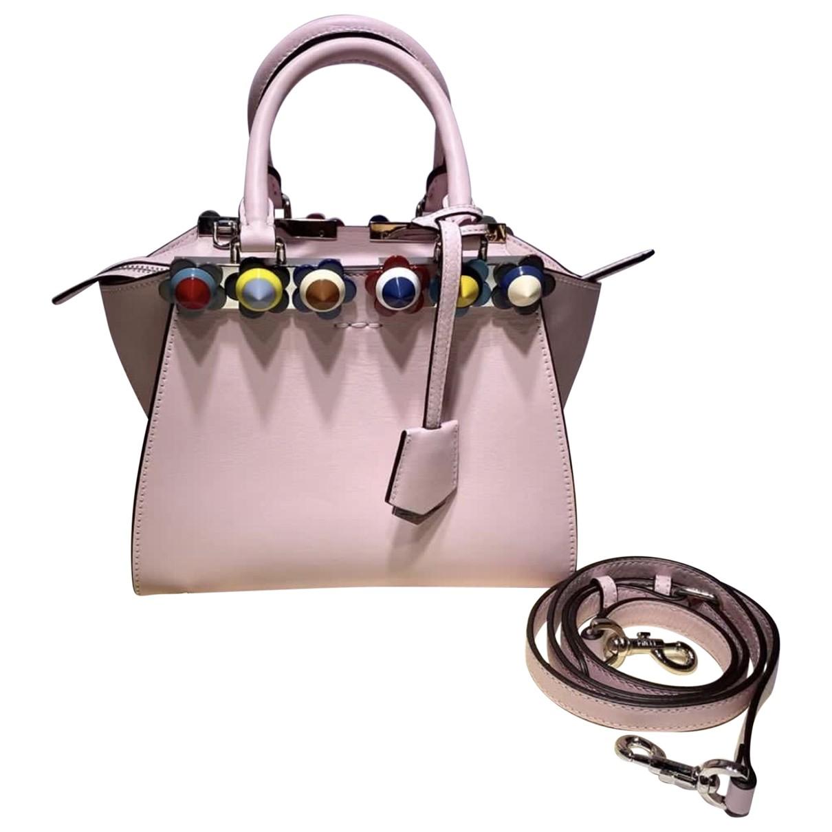 Fendi 3Jours Handtasche in  Rosa Leder