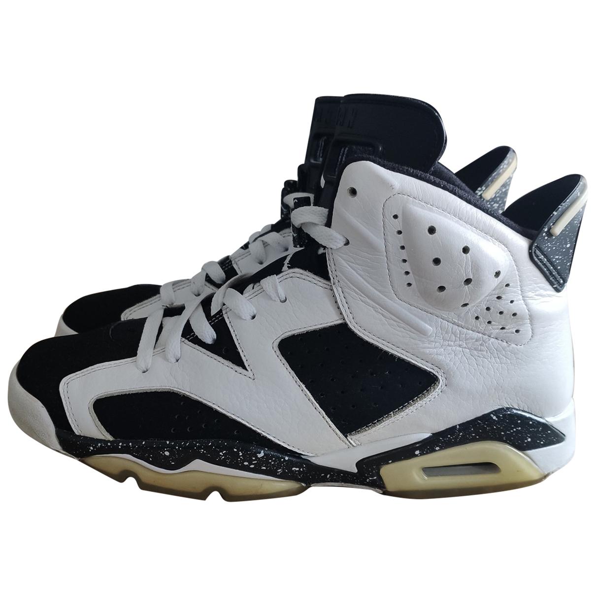 Jordan - Baskets Air Jordan 6  pour homme en cuir - blanc