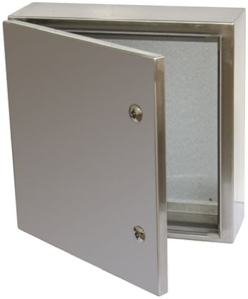 RS PRO 304 Stainless Steel Wall Box, IP66, 150mm x 300 mm x 400 mm, Unpainted