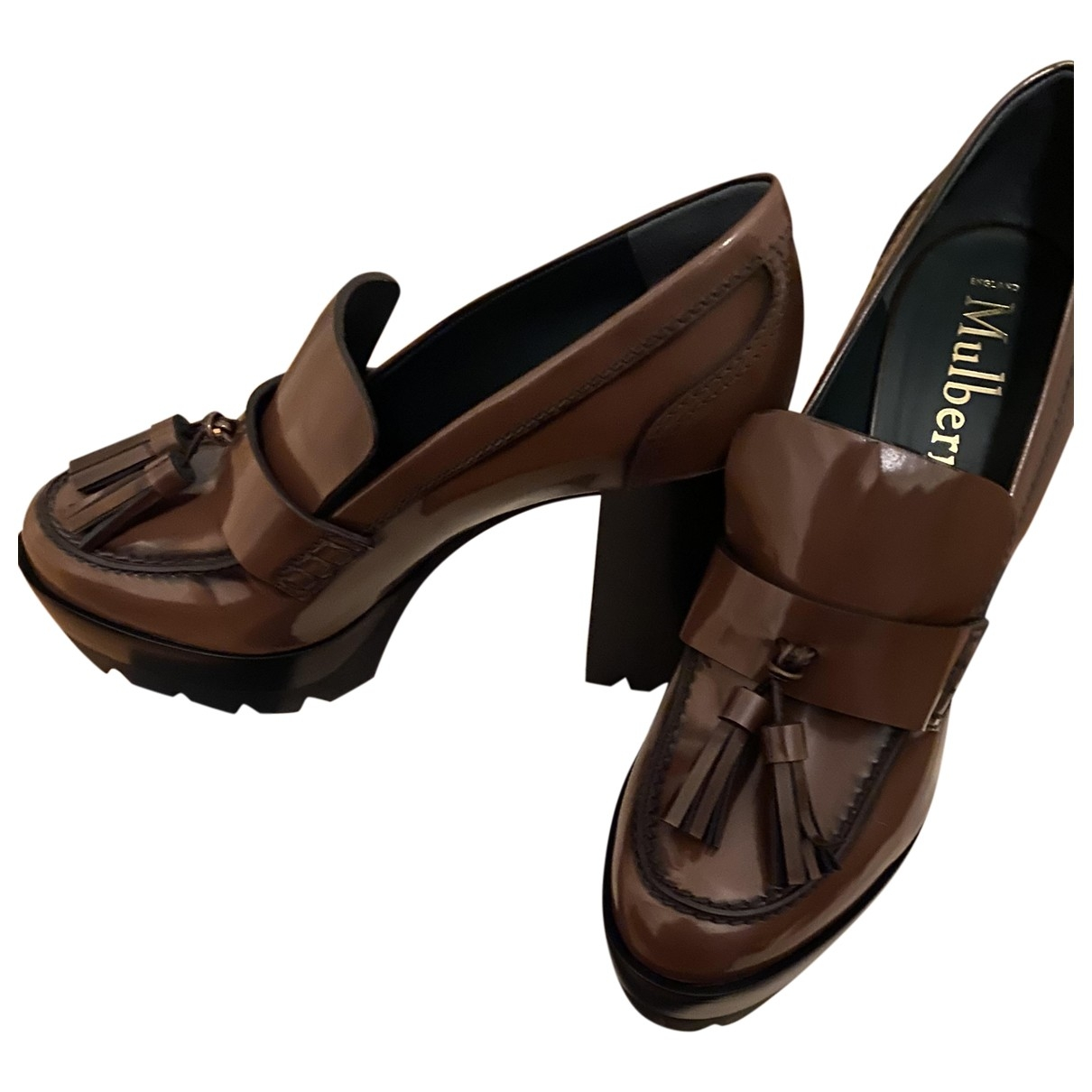 Mulberry \N Brown Leather Heels for Women 40 EU