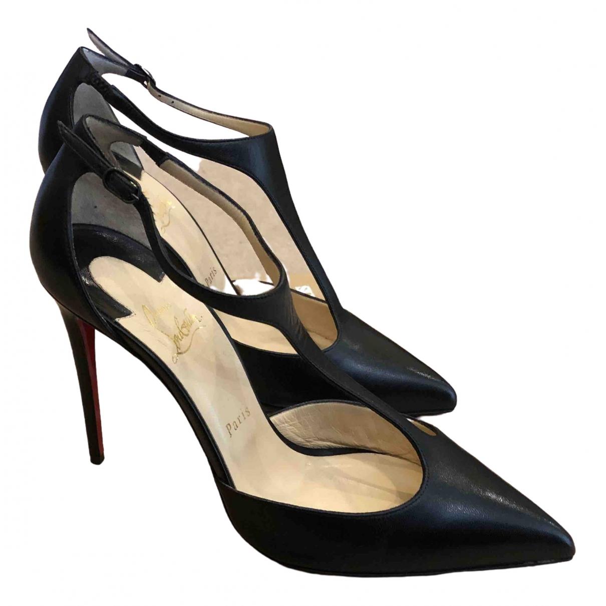Christian Louboutin \N Black Leather Heels for Women 39 EU