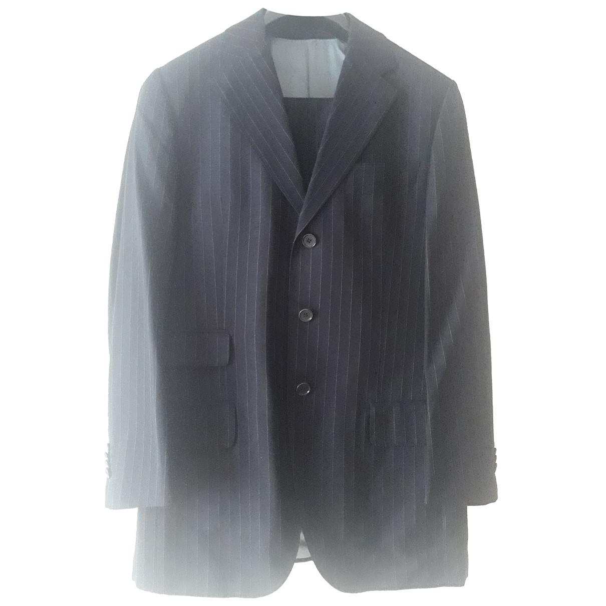 Autre Marque - Costumes   pour homme en laine - bleu